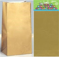 Paper Bags - Gold pack of 10