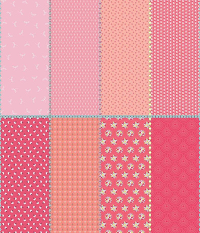 Paper Daisies Fat Eighth Panel Pink FEP8887