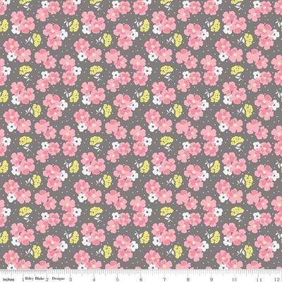Paper Daisies Posey Gray C8884-Gray