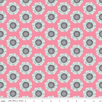 Paper Daisies Wreath Pink C8882-Pink