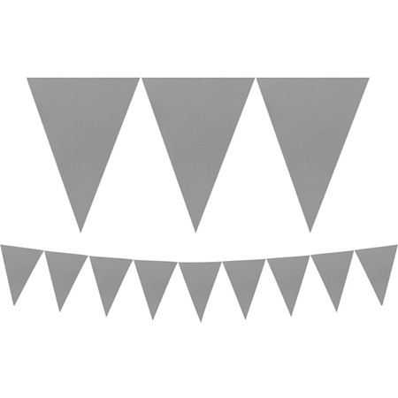 Paper silver bunting