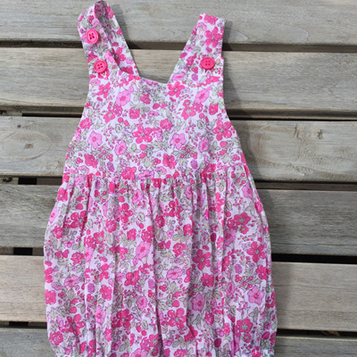 Papoose all in  one floral play suite
