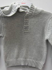 Papoose Grey hooded jumper