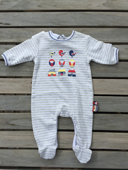 Papoose Layette Grey/Navy/White