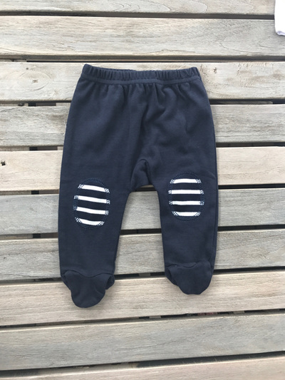 Papoose Navy pants with feet