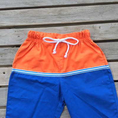 Papoose orange and blue  shorts