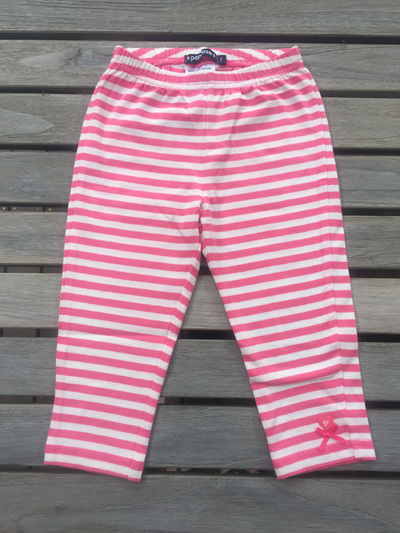 Papoose pinks stripped leggings