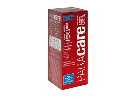 Paracare Strawberry Babies & Young Children 3 months to 6 yrs  200ml