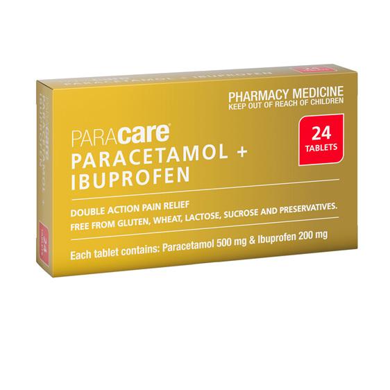 Paracetamol 500mg+ Ibuprofen 200mg Tabs 24s