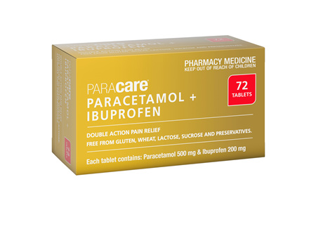 Paracetamol 500mg+ Ibuprofen 200mg Tabs 72s