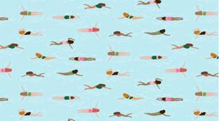 Paradise City Swim Time Aquarelle 1125