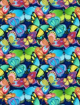 Paradise Falls - Butterflies Navy - 77623-436