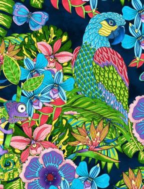 Paradise Falls - Large Floral Navy 77621-446