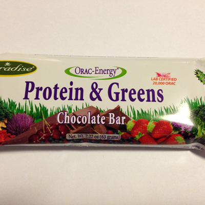 Paradise Orac-Energy Organic Protein and Greens Chocolate Bar