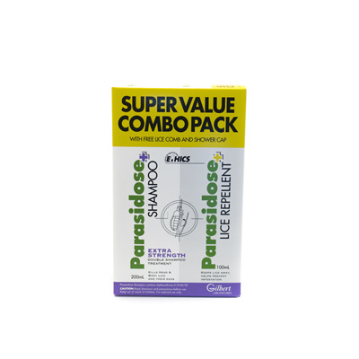 Parasidose Headlice Treatment Pack + Comb