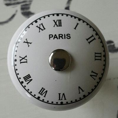 Paris Clock Ceramic Knob