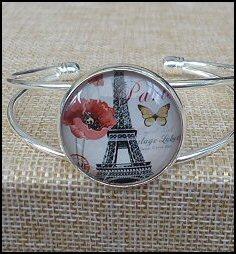 Paris Glass Dome Bangle