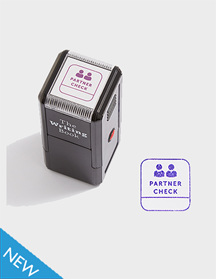 Partner Check Self-inking Stamp