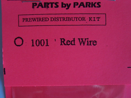 Parts by Parks Prewired Distributor Kit 1001 Red