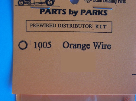 Parts by Parks Prewired Distributor Kit 1005 Orange