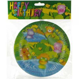 Party Animals Lunch Plates x 6