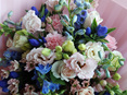Pastel and Blue Bouquet