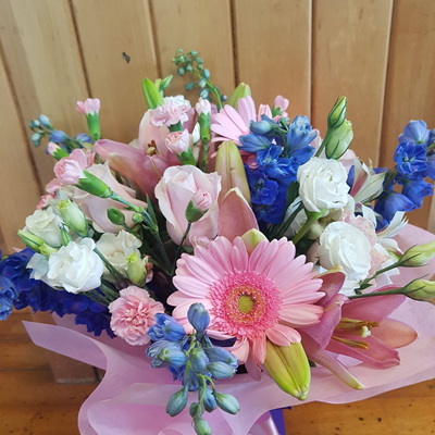 Pastel and Blue Bouquet