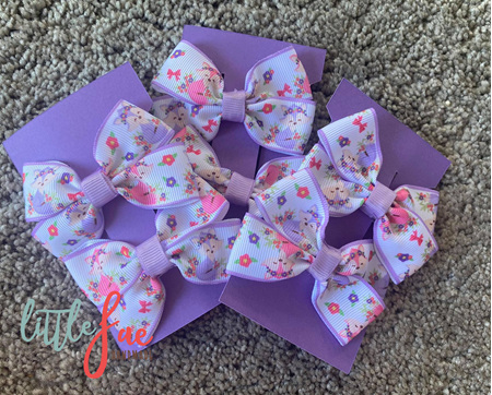 Pastel Fox Hair Bows