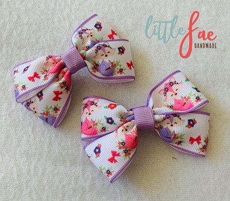 Pastel Foxes Hair Bows