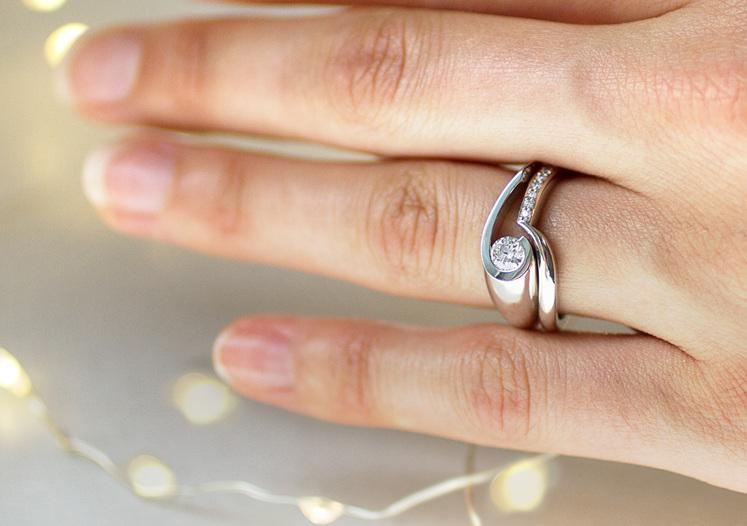 Patai diamond engagement ring design and diamond wedding ring