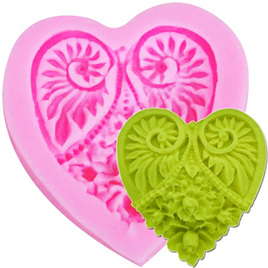 Patterned Heart Silicone Mould