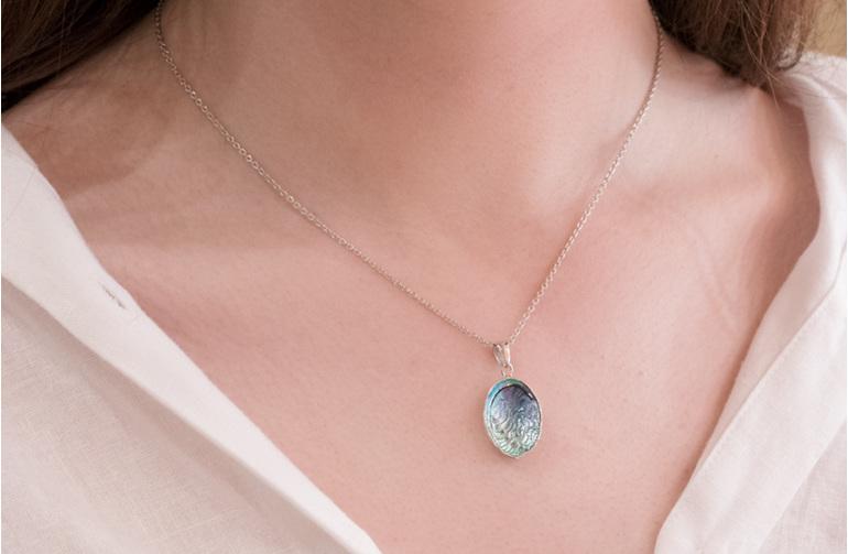 Paua Jewellery, Paua Necklace, New Zealand Jewellery, Shell Necklace