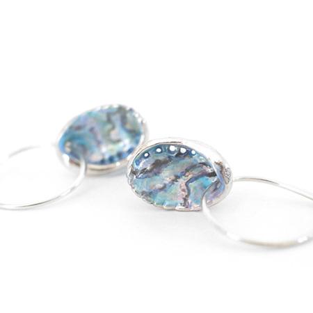 Paua Shell Hoop Earrings