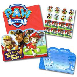Paw Patrol invites x 8