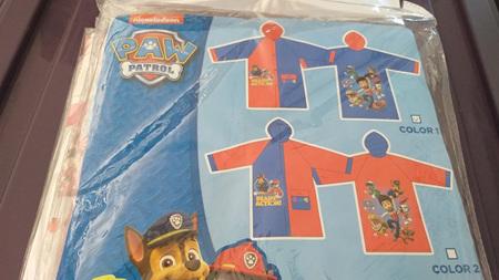 Paw Patrol Raincoat Colour 1 - Size 2
