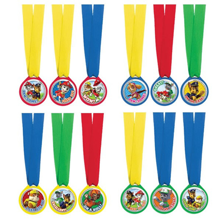 Paw patrol set of 12 medals