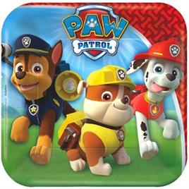 Paw Patrol Square Plates x8