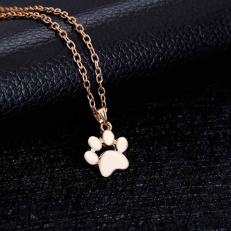 PAW PENDANT NECKLACE - GOLD