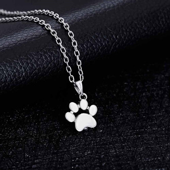 PAW PENDANT NECKLACE - SILVER
