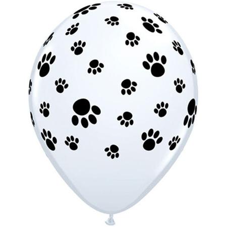 Paw prints balloon