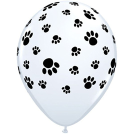 Paw prints balloon