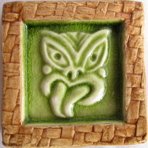 Wall art tiles nz : Pb memory tile green tikki wildside gifts public site