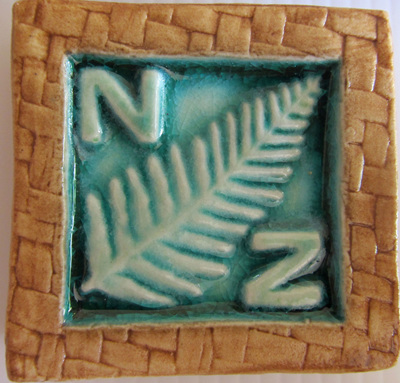 PB05 Memory Tile Blue Fern with NZ