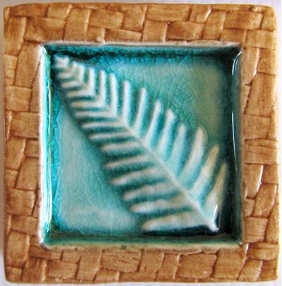 PB06 Memory Tile Blue Fern