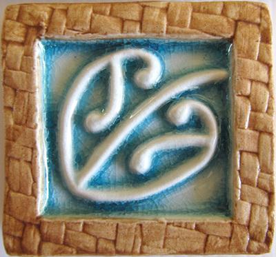 PB13 Memory Tile Blue Maori design