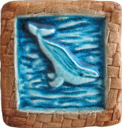PB18 Memory Tile Blue Whale