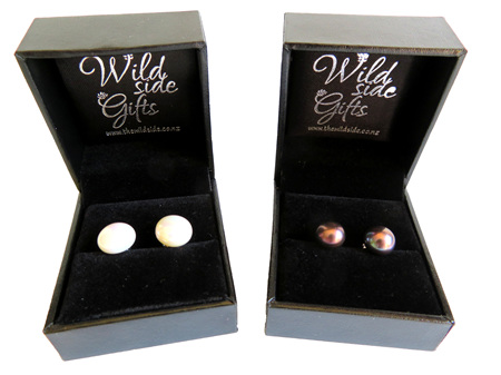 PE10 Large Freshwater Pearl Stud Earrings