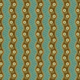 Peacock Bud Stripe A-9133-B