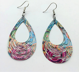 Peacock Open Hole Drop Earrings