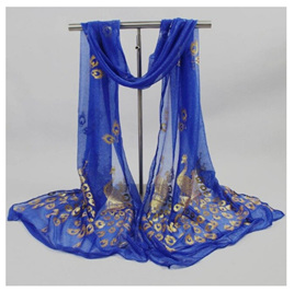 Peacock  Scarf *ROYAL BLUE*